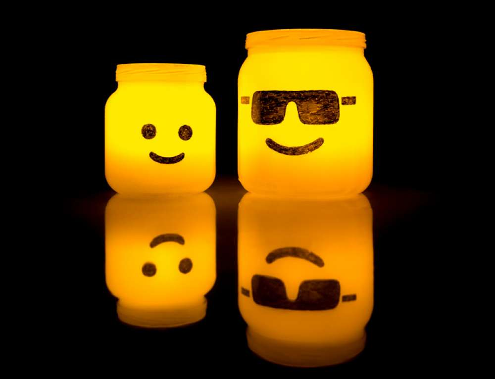 LEGO Kopf Teelichtgläser