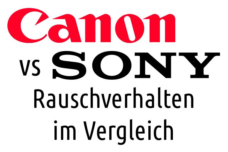 canon vs sony rauschverhalten