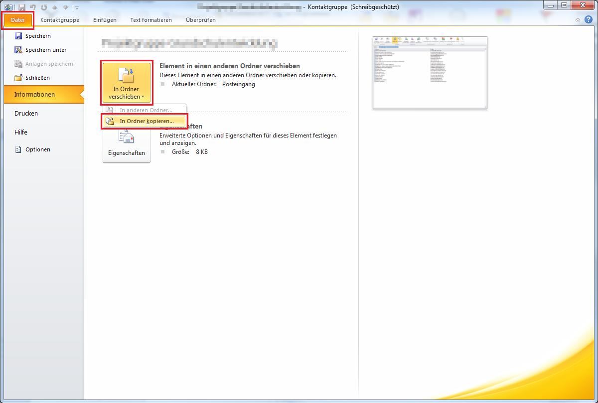 Outlook Verteilerlisten importieren