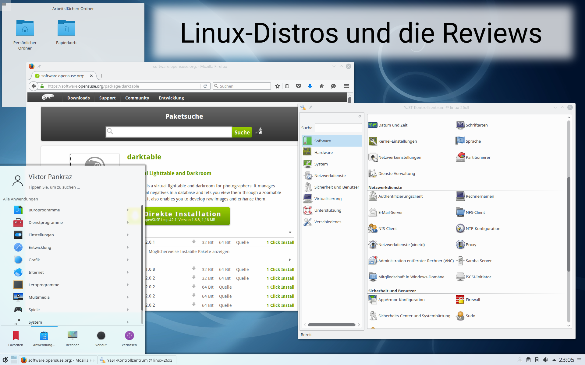 Linux-Distros und die Reviews