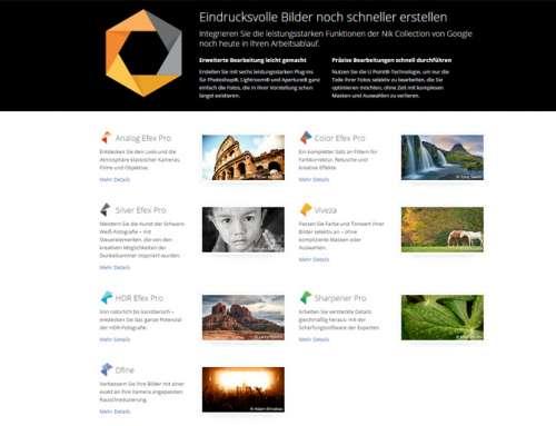 Nik Collection – Google stellt Entwicklung ein