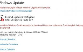 feature update