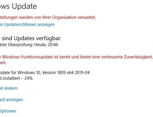 Feature Updates über Windows Update – Windows 10 Enterprise
