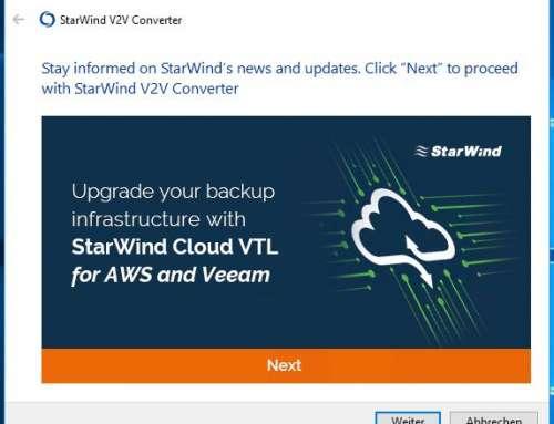 VMs mit StarWind V2V Image Converter migrieren