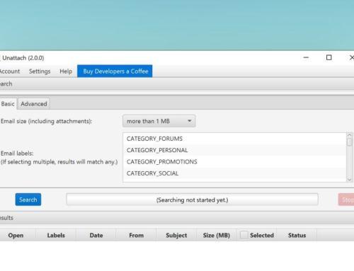 Unattach – Anhänge aus Gmail entfernen